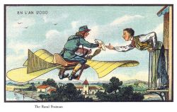 France_in_XXI_Century._Air_postman