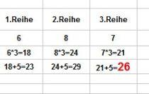 Auflösung Zahlenrätsel