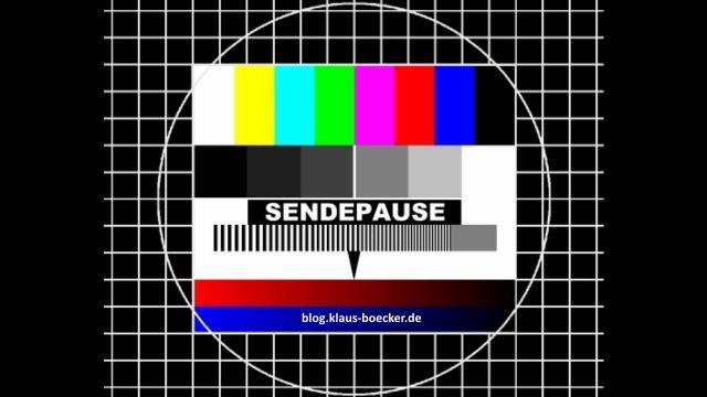 Sendepauseblog